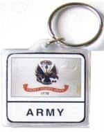 Acrylic Armed Forces Keychain Army