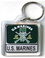 Acrylic Armed Forces Keychain Marines Alternate Logo
