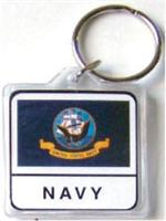 Acrylic Armed Forces Keychain Navy
