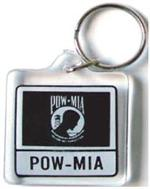 Acrylic Armed Forces Keychain POW/MIA