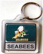 Acrylic Armed Forces Keychain Navy Seabees