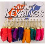 Lucky Rabbits Foot Key Chain 24/Card