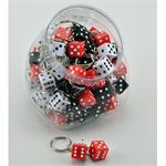 Dice Small Pairs Key Chain 48 Jar
