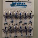 Blue Evil Eye Butterfly Keychain 12 to a Card