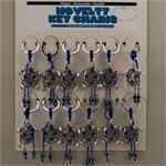 Blue Evil Eye Turtle Keychain 12 to a Card
