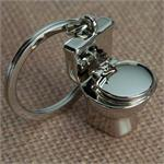 Toilet Bowl Keychain Metal Deluxe Keychain