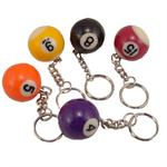 Billiard Ball Key Chain Assorted 12/Card