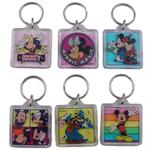 Disney Characters Square Lucite Keychain