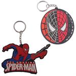 Spiderman Lasercut Head & Logo Keychain