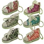 Glitter Sneaker Key Chain 12/Card