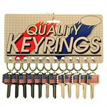 Deluxe USA Flag Key Shape Key Chain 12/Card