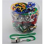 Neckstring Lanyard Key Holder Metal Whistle 60 Jar