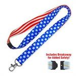LuckyLine Designer Lanyard - PATRIOTIC USA