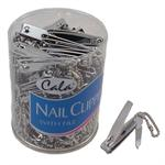 Nail Clipper Key Chain Chrome 72 Pc Display Jar