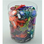 Key Identifier Tag Plastic With Swivel Assorted Colors 400 Jar