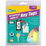 Label-It Tags Small Rectangle Assorted 20/Clamshell Pack Asstd Colors