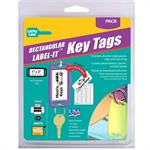 Label-It Tags Large Rectangle Assorted 12/Clamshell Asstd Colors
