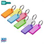 Lucky Line Standard Key Tag with Split Ring 25/Pack by Color