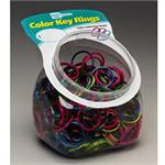 Lucky Line Color Split Key Rings 200 Jar ASSORTED Colors