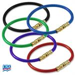Lucky Line Twisty - Twist Lock Flexible Coated Cable Key Ring Bulk Each