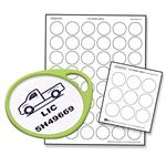 Labels for Round Label-It Tags 12 Sheets to a Pack