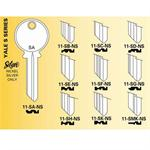 11SH YALE KEY BLANK 6 PIN NICKLE SILVER SH