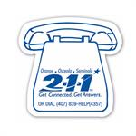 Custom Printed FULL COLOR Magnet-Telephone