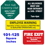 Custom Engraved Sign 101 To 125 Square Inches