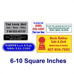Custom Label 6 To 10 Sqin