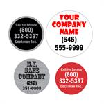 Custom Round Label Up To 2 inches Diameter