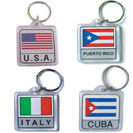 Flags of all Nations Key Chains