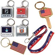 USA key chains and keyrings
