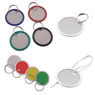 Paper Key Tags with Metal and Plastic Rims