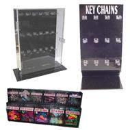 acrylic plastic and lexan key chain and keyring displays