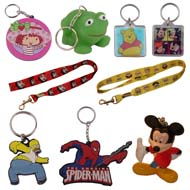 Cartoon character and pop culture icon key chains