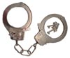 Handcuffs Nickel Plated Full Size