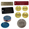 Engraved metal key tags