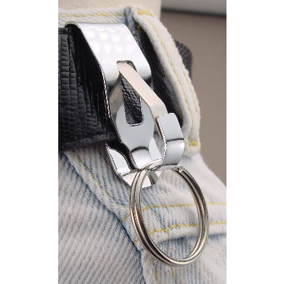 Key Support II Belt Key Holder Slip On Chrome Bulk Each
