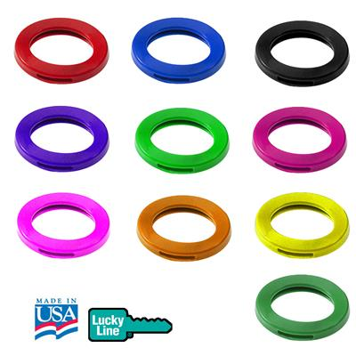 Lucky Line Large Key Identifier Ring USA MADE Refills by Color 50 to a Pack
