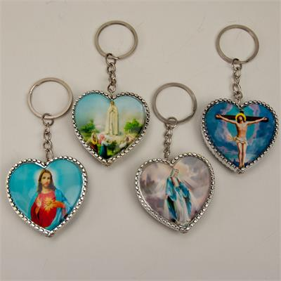 Chrome Heart Religious Pictures Key Chain