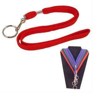 Lanyard 3/8 Inch Woven Assorted Colors 24 to a Card