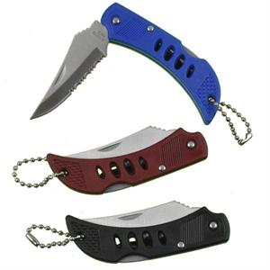 Large Shark Knife Locking Blade Key Chain 12/Card