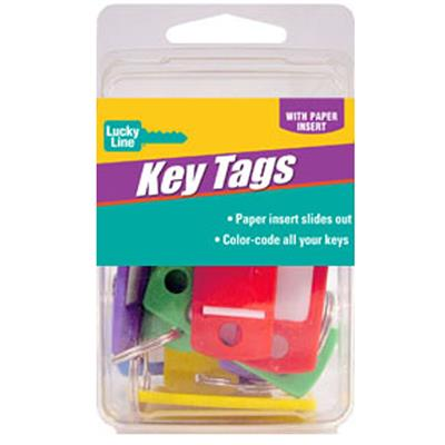 Lucky Line Standard Key ID Tags 12/Clamshell Assorted Colors
