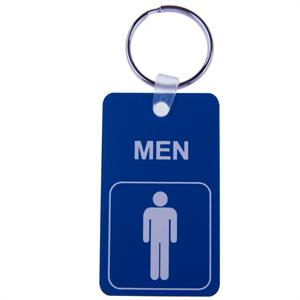 Engraved Small Men's Room Engraved Key Tag