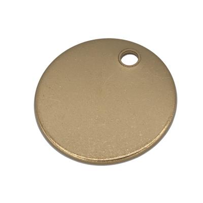 1.5 Inch Round Brass Key Tag Blank .040 Thick