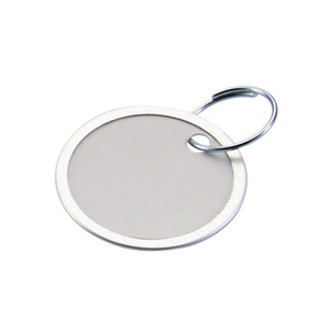 Paper Key Tag With Ring 1 1/4 Inch
