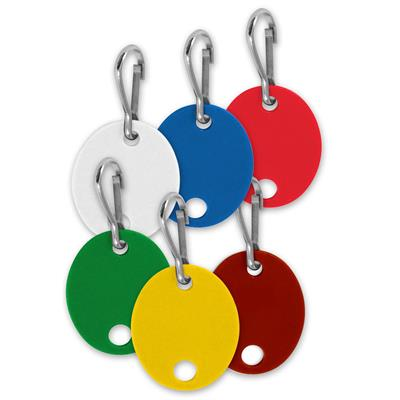 Lucky Line Oval Key Cabinet Tag PACK of 20 by Color