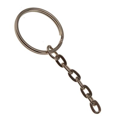 24mm Split Key Ring with Link Chain 72 Pack