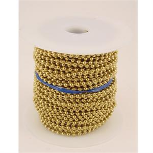 Number 6 Ball Chain Spool Brass Plated