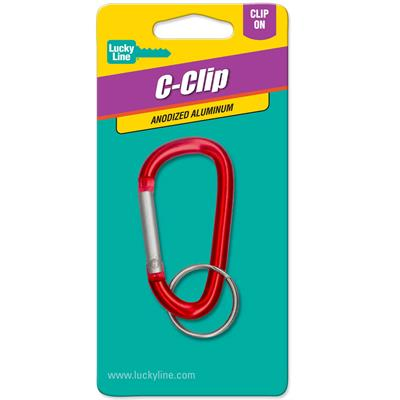 Lucky Line Large Climbers Clip 1/Card Assorted Colors